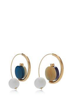 Ocean Earrings With Resin by MARNI for Preorder on Moda Operandi