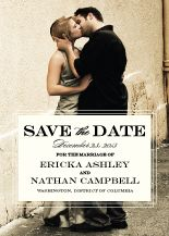 Kleinfeld Papers - Traditional Wedding Save the Date Card with photo