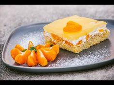 Žravé řezy se smetanou a mandarinkami Ricotta, Martini, Cheesecake, Pudding, Food, Youtube, Basket, Meal, Cheese Cakes