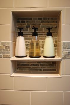 Love the use of decorative bottles.