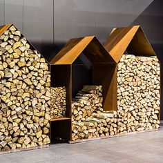 Houthokken Kuppers & Wuytens Firewood Shed, Firewood Storage, Log Store, Tool Sheds, Wood Tools, Outdoor Storage, Countryside, Indoor Outdoor, Modern