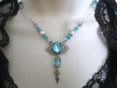 Element Of Water Goddess Necklace wiccan jewelry by Sheekydoodle, $32.00
