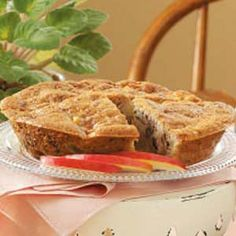Apple Pie Dessert Recipe- Recipes  MY AUNT gave me this recipe and it is a wonderful fall dessert for two or more. It tastes like apple pie, yet is less time consuming to prepare. With the special touch of the butter sauce, it receives raves for taste and a delightful surprise flavor addition.