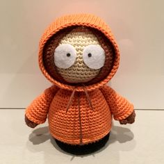 Kenny - South Park by Anna Carax at La Fee Crochette. Free crochet pattern in French with some English.