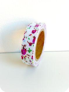 Fabric tape flores lilas - Shop We Love Parties Bcn
