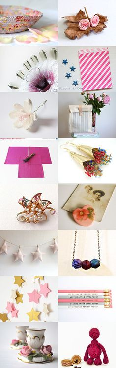 Pink by Adi Almog on Etsy- #etsy #treasury #pink #bowl #lavender #basket #ring #holder #lilac #key #catcher #red #roses   -Pinned with TreasuryPin.com