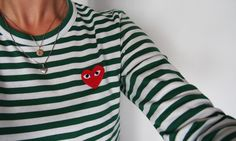 COMME DES GARCONS PLAY GREEN & WHITE