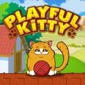 cool Playful Kitty  Your task in this cute physics puzzle is to get the ball of wool to the cat so it can play with it. Can you make the kitty happy and collect all three... https://gameskye.com/playful-kitty/