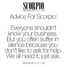 Advice for Scorpio. For tons more information on ...