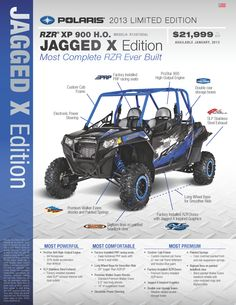 RZR® XP 900 H.O. MODEL#:  R13XT9EAL JAGGED X Edition Most Complete RZR Ever Built