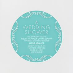 """Wedding Shower - Aqua"" Invitation, by bluepoolroad, Paperless Post"