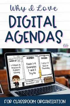 Digital Agendas help keep students organized and can act as the communication hub for your students and parents. They come in so many styles and can easily reflect your grade, content, or theme. Read more about the benefits of Digital Daily Agendas. I Can Statements, Secondary Teacher, 3rd Grade Classroom, High School Students, Learning Resources, Classroom Organization, Problem Solving, Middle School, Teaching