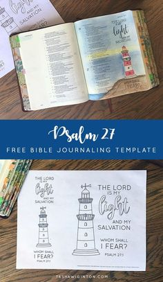 Free Bible journaling template for Psalm 27:1 - Easy! Just print and trace!
