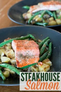 Chef inspired Steakhouse salmon recipe is going to take up your cooking to the next notch! We used this recipe for a fun cooking date night at home for just the two of us. Sharing tips on how to recreate the dish and your own at home date night with your sweetheart or add another couple for a group date!