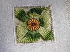 I have become quite interested in Cilaos style of embroidery Embroidery Needles, Ribbon Embroidery, Cross Stitch Embroidery, Embroidery Patterns, Floral Embroidery, Pin Weaving, Loom Weaving, Teneriffe, Broderie Bargello