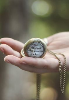 Not All Those Who Wander Are Lost Pocket Watch Necklace - Livin' Freely