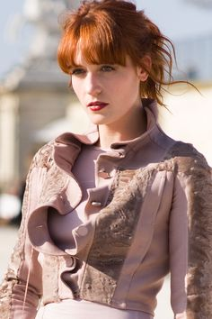 Florence Welch at Paris Fashion Week AW 2011, Photo by Vanessa Jackman