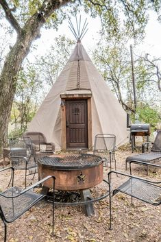 Check out these luxury tipi rentals outside of New Braunfels, Texas. Book the best tipi New Braunfels has!