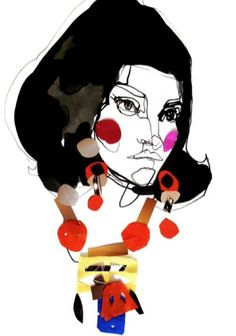 Fashion illustration by Stina Persson, 2010. (Sweden)