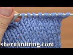 ▶ CONTINENTAL:  How Knit Stitch Worked Into Back Leg - YouTube