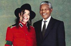 Michael en Nelson Mandela