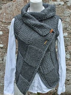 Plus Size Sweaters, Casual Sweaters, Sweaters For Women, Knit Fashion, Fashion Outfits, Knit Vest Pattern, Crochet Clothes, Types Of Sleeves, Knit Crochet