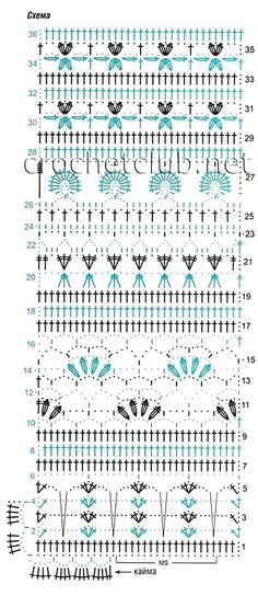 Crochet Creative Stitches - Chart ❥ 4U // hf