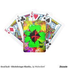 Good luck - Glücksbringer Kleeblatt Bicycle Playing Cards