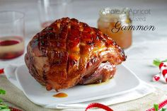 My ultimate Gammon recipe. Salty and smoky covered in a delectable apple & apricot glaze. Apple Glaze, Ham Glaze, Christmas Lunch, Christmas Cooking, Christmas Dishes, Christmas Things, Christmas Movies, Diy Christmas, Ham Recipes