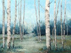 Going Back 36 x 48 Oil on Wood Aspen Trees, Birch Trees, Golden Leaves, Serenity, Oil, Fine Art, Amazing, Painting, Instagram