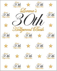 50th Birthday Party Custom Backdrops (Step and Repeat   Retirement ...