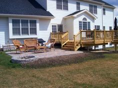 Deck and Patio Design with Built in Fire Pit in Hawthorn Woods, IL