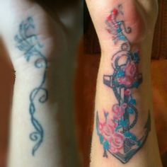 Cover up anchor tattoo