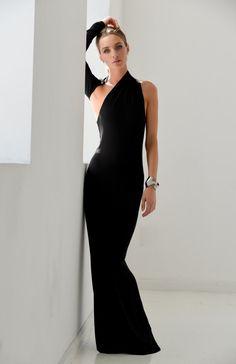 Платье / Black Dress / одно плечо платье / от marcellamoda на Etsy