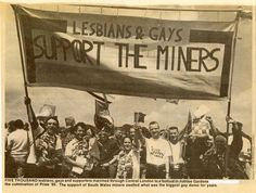 LGSM at the miners-led Gay Pride in 1985