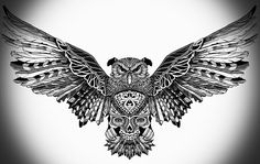 Back Tattoos, New Tattoos, Body Art Tattoos, Tattoos For Guys, Sleeve Tattoos, Cool Tattoos, Tatoos, Owl Tattoo Design, Tattoo Designs