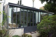 V randa alu toit plat verri re pinterest best - Extension maison verriere ...