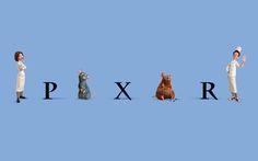 Ratatouille themed Pixar logo
