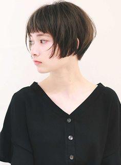 柔らかい質感のナチュラルショートボブ|髪型・ヘアスタイル・ヘアカタログ|ビューティーナビ