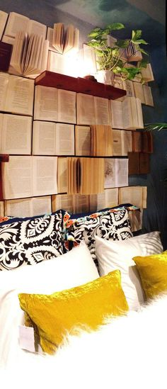 amandaonwriting:  Book Wall Anthropologie display