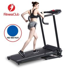 Portable 500W Folding Electric Motorized Treadmill Running Gym Fitness Machine…