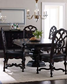 Dining Room with my favorite color. Black