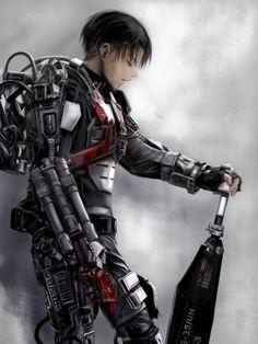 Levi. Shingeki no kyojin / All you need is kill.  Edge of tomorrow