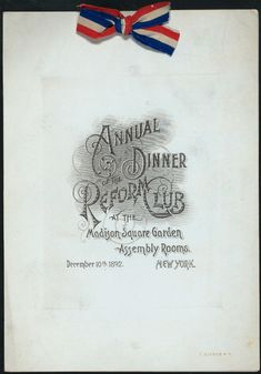 late 1800s menu - Google Search