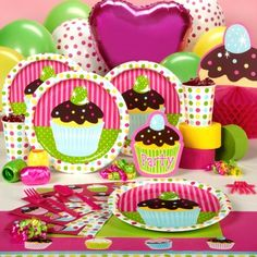 Cupcake Party Decorations on How About These Girls    Cupcake Party Supplies
