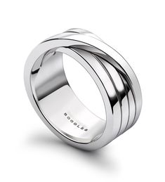 MAX Mens White Gold Ring. In 18ct white gold