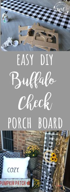 This easy project is so cute and could be used all year round on your front porch! Nägel Ideen Sonnenblume Easy DIY Buffalo Check Porch Board for any season! Buffalo Check, Diy Sock Toys, Front Porch Signs, Front Porches, Plaid Decor, Diy Porch, Diy Front Porch Ideas, Diy Wood Signs, Porch Decorating