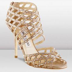 Jimmy Choo 'April' Crisscross 120mm Sandals | Sapatos
