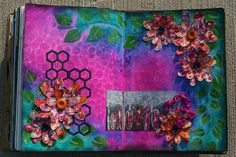Dylusions Art Journal Page created by Kourtney Osborn-Vallee. www.scrapbooknmemories.net/blog