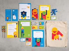 As Germany's first housing cooperative, the Elbe Housing Association (BVE) has founded its own cooperative association for children. In the context of corporate design, EIGA has created a brand's own vibrant world for the young members. Corporate Design, Brand Identity Design, Branding Design, Corporate Identity, Brochure Inspiration, Design Inspiration, Creative Inspiration, Brand Character, Design Language